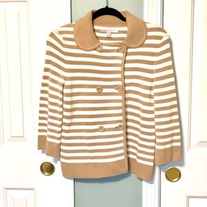 Old Navy striped sweater/cardigan size small
